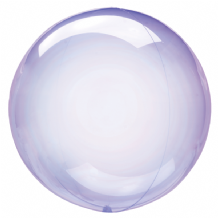 "Crystal Clearz Balloon - Purple Crystal Clearz (18"") 1pc"